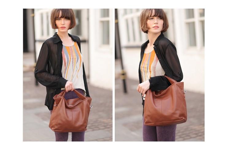 Hobo handbag, leather cross body bag - BagsWish