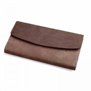 Wallet for men, brown tri fold leather wallet