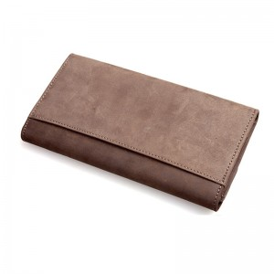 tri fold leather wallet