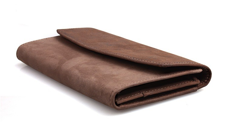 Wallet for men brown tri fold leather wallet