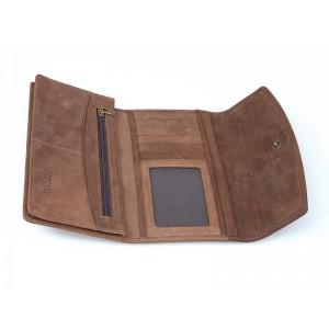 brown tri fold wallet