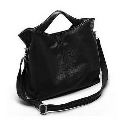 Leather Cross Body Bag Black Hobo Handbag