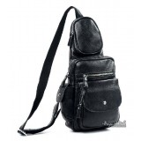 Ipad backpack with one shoulder strap, black deluxe sling backpack