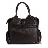 Trendy leather handbag black, coffee unique leather handbag