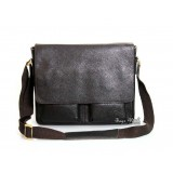 Men leather briefcase coffee, 14 men leather laptop bag
