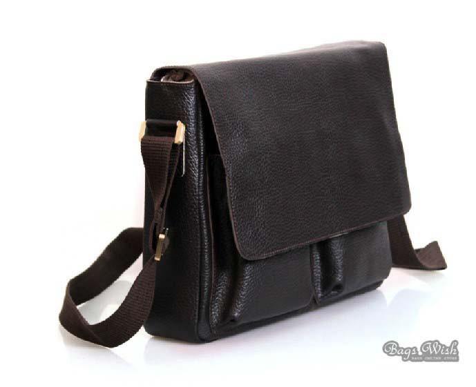 Men leather briefcase coffee, 14 men leather laptop bag - BagsWish