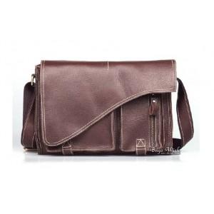 """Shoulder briefcase, brown 13"""" best laptop briefcase"""