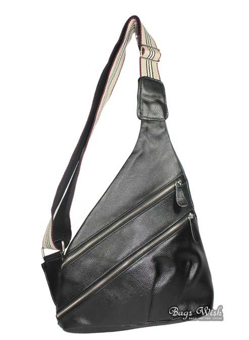 Leather one shoulder backpack, black leather purse bag - BagsWish