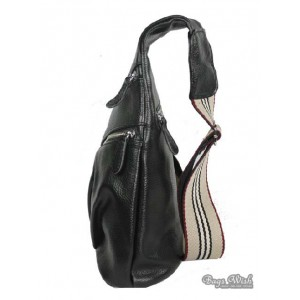 black one shoulder backpack