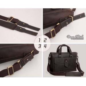 vintage old leather briefcase