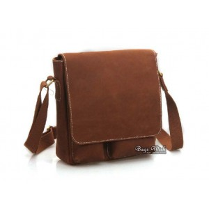 Mens leather messenger bag, brown mens leather satchel