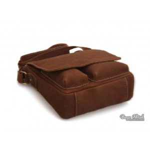 brown Mens leather messenger bag