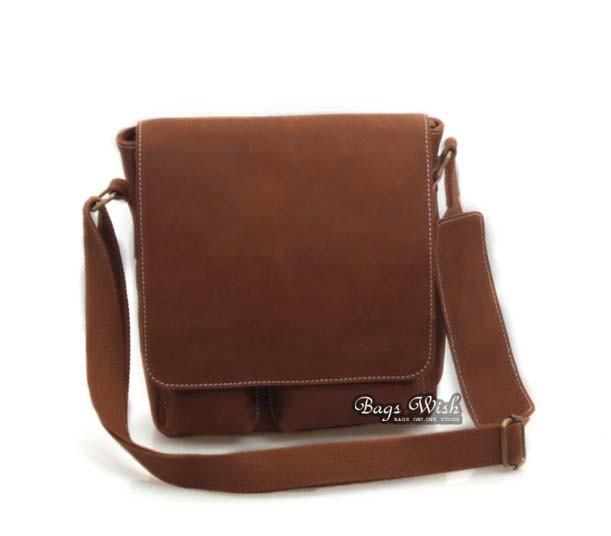 ... brown mens leather satchel ...