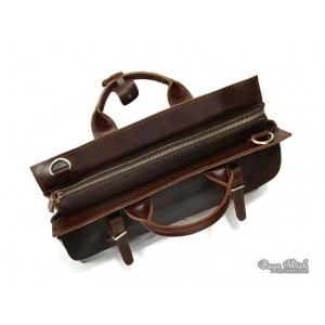 coffee leather notebook bag