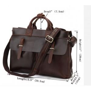 mens Genuine leather briefcase