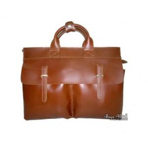 brown Genuine leather briefcase