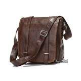Mens shoulder bag coffee, mens messenger leather bag