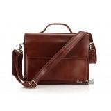 Laptop bag for men, brown laptop briefcase bag