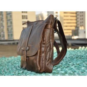 brown Mens small messenger bag