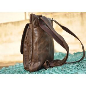 brown mens vintage leather bag