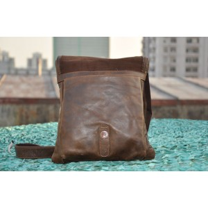 leather Mens small messenger bag