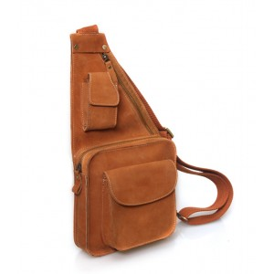1 strap backpack, brown cross body sling bag
