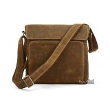 Thick leather bag, vintage brown messenger bag