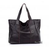 Tote bag leather, vintage leather handbag tote