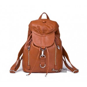 Ladies backpack, leather backpack purse for women