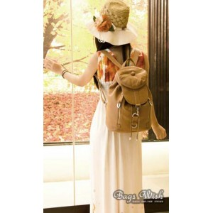 apricot backpack purse for women