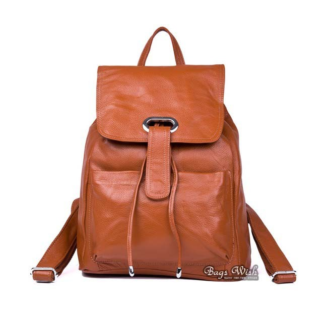 Fashion backpack, genuine leather backpack - BagsWish