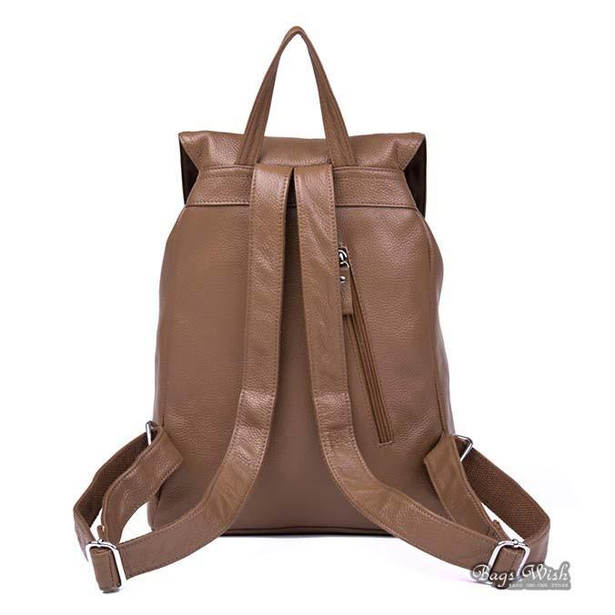 Fashion backpack, genuine leather backpack - BagsWish