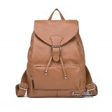 Classic leather backpack, drawstring backpack