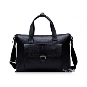Mens leather bag briefcase