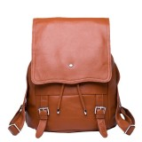 Brown leather backpack for women, coffee leather backpack vintage