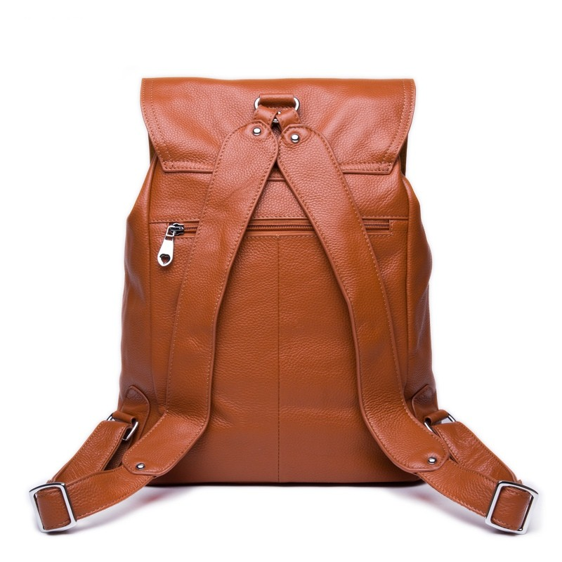Brown leather backpack for women, coffee leather backpack vintage ...