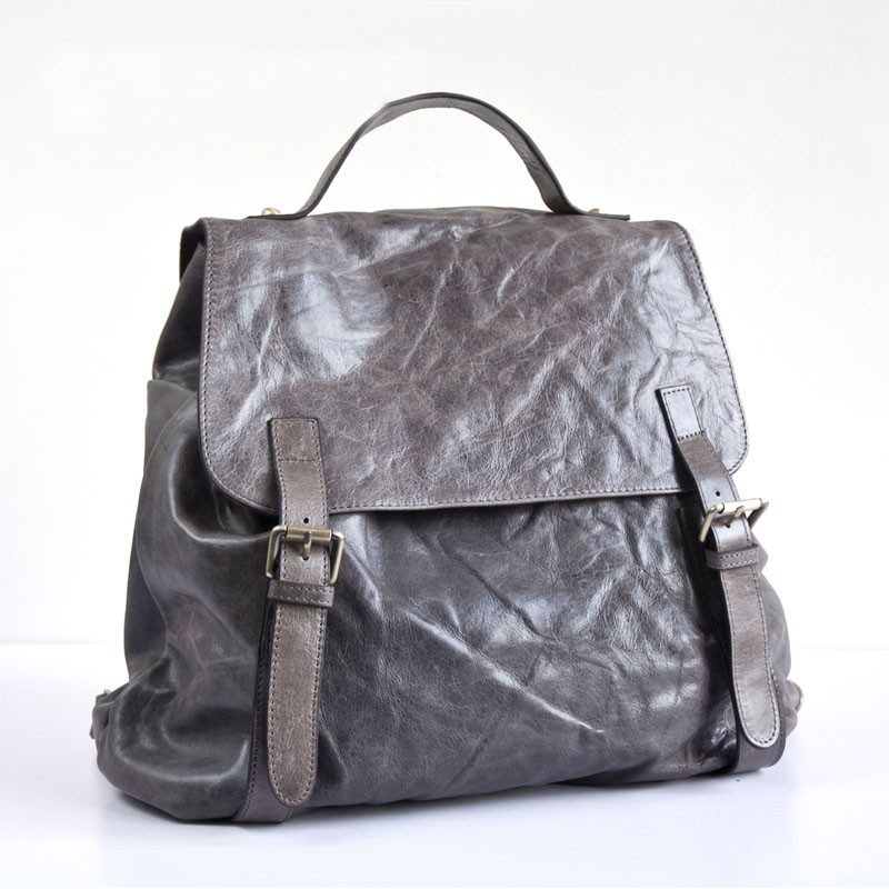 84f278043a2b grey Best leather backpack  womens leather backpack purse ...