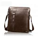 Leather bag messenger brown