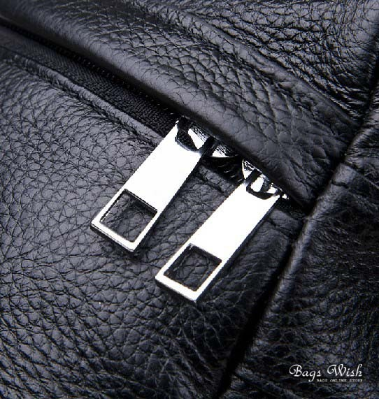 black backpack leather purse