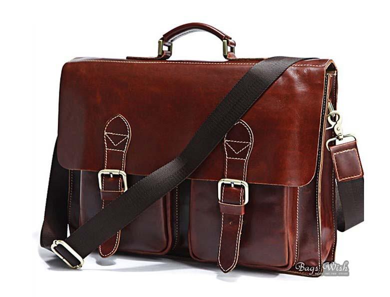 Vintage Luxury Leather Laptop Bag