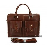 Mens laptop bag leather coffee, mens brown leather bag
