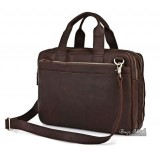 Leather mens briefcase, coffee leather messenger bag briefcase