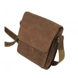 Leather messenger bag, coffee leather mens purse
