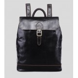 Leather backpack purse coffee, black leather bag for women