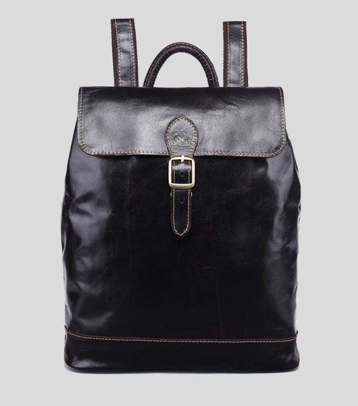 Leather backpack purse coffee black leather bag for women bagswish