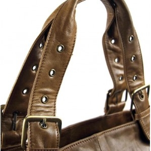 womens leather weekend bag