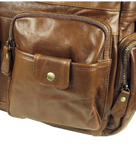 Leather Organizer Bag Leather Messenger Bag Vintage