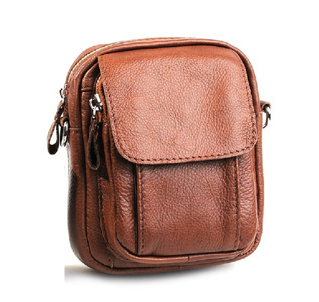 Brown Leather Messenger Bags for Men