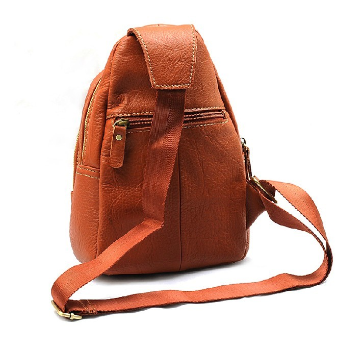One strap backpack for girls coffee, brown lightweight travel ...
