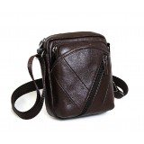 Retro messenger bag, coffee rugged leather messenger bag